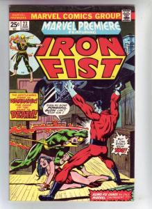Marvel Premier #23 (Jan-75) VF/NM- High-Grade Iron Fist