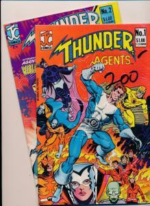JC Comics SET OF 2-T.H.U.N.D.E.R. Agents #1-2 VERY FINE+ (SRU658)