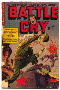 Battle Cry #10 1954-molotov cocktail cover- PVT IKE fair