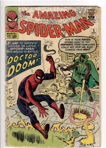 AMAZING SPIDERMAN 5 FA/GD 1.5 COMPLETE AND UNRESTORED.