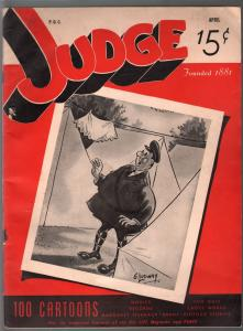 Judge 4/1941-jokes and cartoons-pre WWII issue-VG