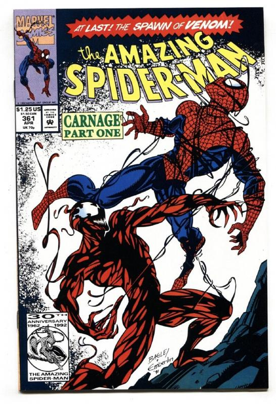 Amazing Spider-Man #361 1992- 1st appearance of Carnage NM- High Grade Marvel.