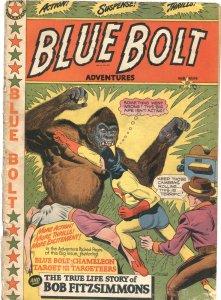BLUE BOLT #104-1950-LB COLE SUPERHERO OVER-TARGET-CHAMELEON-RARE