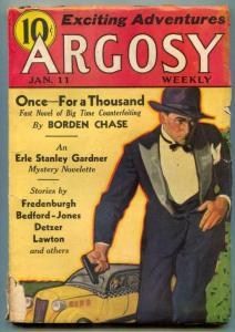 Argosy Pulp January 11 1936- Borden Chase VG-