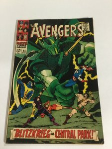 Avengers 45 Vg+ Very Good+ 4.5 Marvel Comics Silver Age