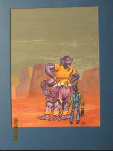 Original Kelly Freas Analog Cover Preliminary Art with Galley