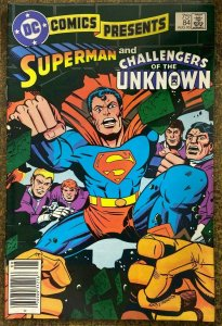 DC COMICS PRESENTS #84  (DC,8/1985)  FINE (F) Kirby! Toth! Challengers/Unknown