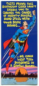 SUPERMAN / DC Greeting Cards x 4 different, 1978, Wonder Woman, w/envelopes, lot