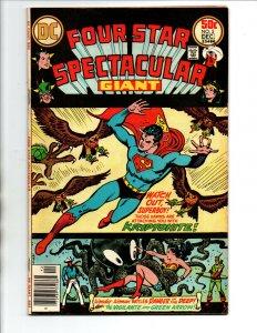 Four Star Spectacular #5 newsstand - Superman Wonder Woman Green Arrow - 1976 FN
