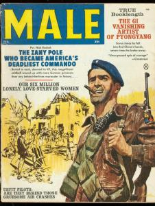 MALE MAGAZINE FEB 1962-KUNSTLER COVER-PYONGYANG-PULP VG