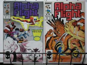 ALPHA FLIGHT (1983-1994) 48-49 Mantlo Madness