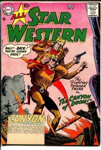 All Star Western #98 1957-DC-Trigger Twins-Johnny Thunder-FR/G