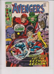 Avengers [1970 Marvel] #79 FN roy thomas - sal buscema - lethal legion swordsman