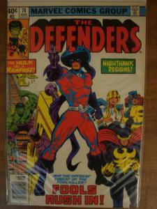 Marvel Comics The Defenders #74 Fine FoolKiller