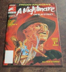 A Nightmare on Elm Street #1 VF 1989 Freddy Krueger Marvel Horror Magazine