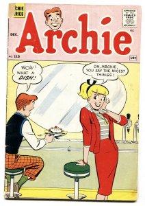 Archie #115 1960-soda shop ice cream cover-Betty-Veronica-VG-