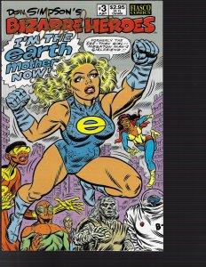 Bizarre Heroes #3 (Fiasco Comics, 1990)) NM - Auto Ron Simpson