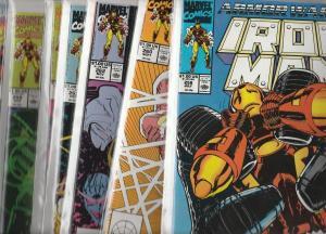 Iron Man Iron Wars II set #258to265 (Jul-90) NM+ Super-High-Grade Iron Man