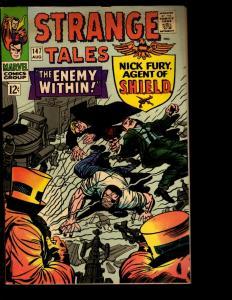Strange Tales # 147 FN/VF Marvel Comic Book Nick Fury & Dr. Strange Avengers NE3