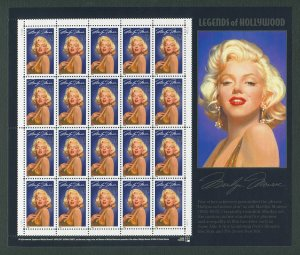 Marilyn Monroe US Postage Stamp Collector Sheet  1995