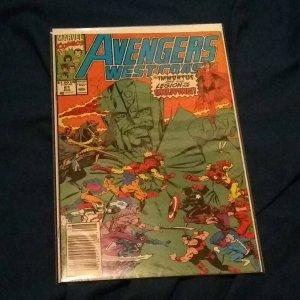 Avengers West Coast, #61 Marvel  1990 1st Cameo Time Keepers, Immortus, Loki