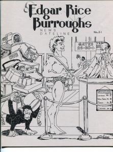 Edgar Rice Burroughs News Dateline #31 1988-Tarzan-1st new format issue-VF