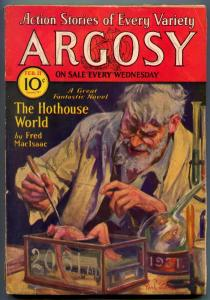 Argosy Pulp February 21 1931- Hothouse World- Weird horror cover VG