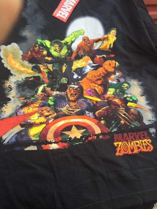 MARVEL ZOMBIES T-SHIRT ENTIRE CAST OF CHARACTERS