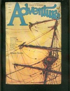 ADVENTURE PULP-5/8/1926-SHIP CV-GORDON YOUNG-BAUMHOFER! VG+