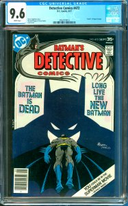 Detective Comics #472 CGC Graded 9.6 Death of Hugo Strange