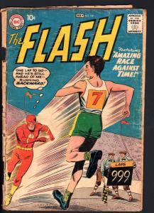 FLASH #107-3RD ISSUE-1959-CLASSIC DC SILVER-AGE-Bargain copy!