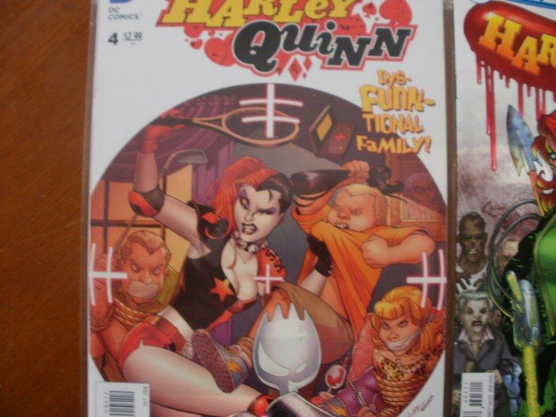 2 HARLEY QUINN Comic Book: #3 (DC Universe Rebirth) & #4 (The New 52)