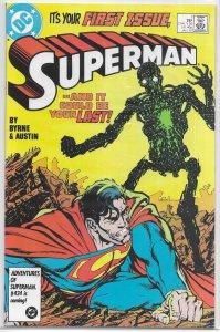Superman (vol. 2, 1987) #  1 VF Metallo, Byrne