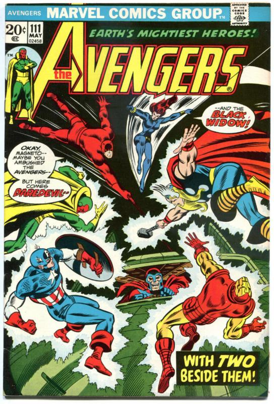 AVENGERS #111, VF, Magneto, Thor, Iron Man,Captain America, 1963, more in store