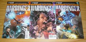 Armor Hunters: Harbinger #1-3 VF/NM complete series - valiant comics set lot 2