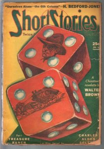 Short Stories 11/10/1940-dice cover-Carroll John Daly-Bedfotd-Jones-FR/G