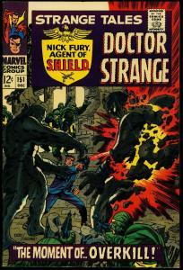 Strange Tales #151 1966- 1st Steranko art Marvel- Dr Strange - Nick Fury FN/VF