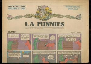 L.A. FUNNIES JAN 11 1984-GUMBY-HEY COACH-ZIPPY-RAREST  VF