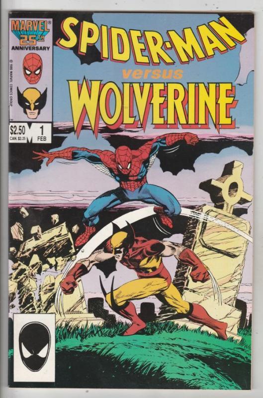 Spider-Man versus Wolverine #1 (Feb-87) VF/NM High-Grade Wolverine, Spider-Man