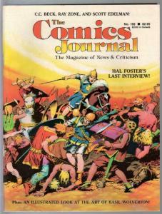 Comics Journal #102-9/1985-Prince Valiant-Basil Wolverton-CC Beck-VF