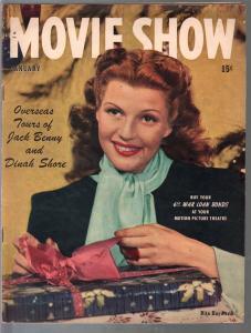 Movie Show 1/1945-Rita Hayworth-Alfred Hitchcock-Bogart & Bacall-FN