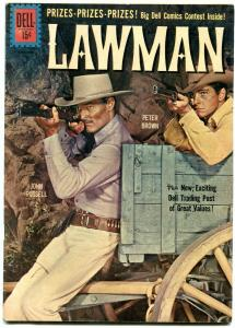 Lawman #8 1961- Dell Western- John Russell- Peter Brown G