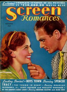 Screen Romances 11/1938-Dell-Groucho Marx-Spencer Tracy-Mickey Rooney-VG+