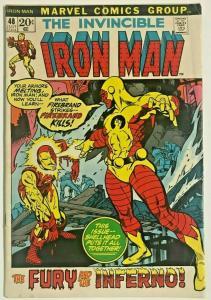 INVINCIBLE IRON MAN#48 VG/FN 1972 MARVEL BRONZE AGE COMICS