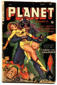 Planet #70 Classic GGA cover-Horror/Sci-Fi Fiction House G