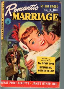 ROMANTIC MARRIAGE #11-1952-RARE PRE-CODE WEDDING COVER  ZIFF-DAVIS-RARE-Goo G