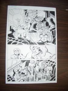 COMMON GROUNDS #3 PG 4--ORIGINAL COMIC ART--DAN JURGENS FN