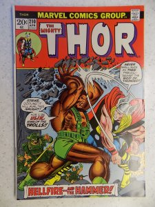 THE MIGHTY THOR # 210 MARVEL GODS JOURNEY ACTION ADVENTURE