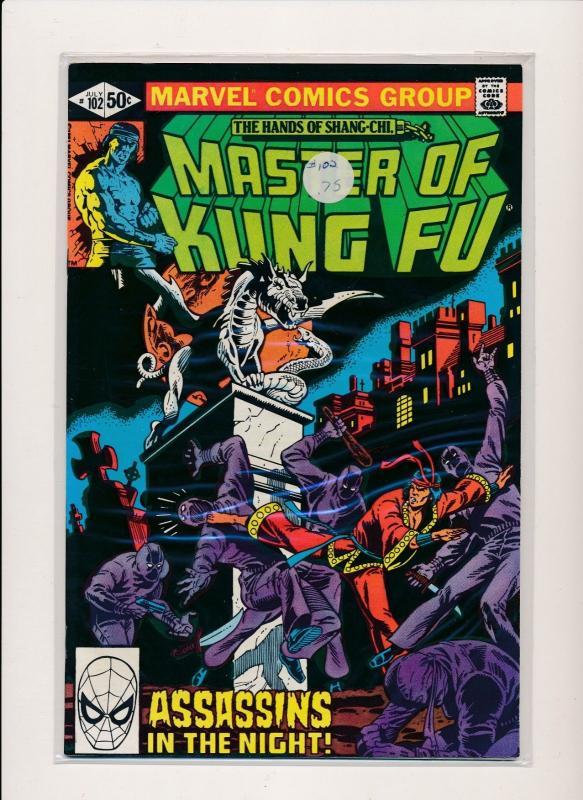 MARVEL  Master of Kung Fu ASSASSINS IN THE NIGHT #102 FINE/VERY FINE (HX702)