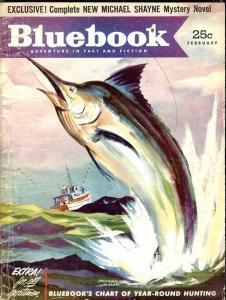 BLUE BOOK PULP-FEBRUARY 1953-VG-FLOHERTY COVER-HALLIDAY-MACDONALD-PEACOCK VG